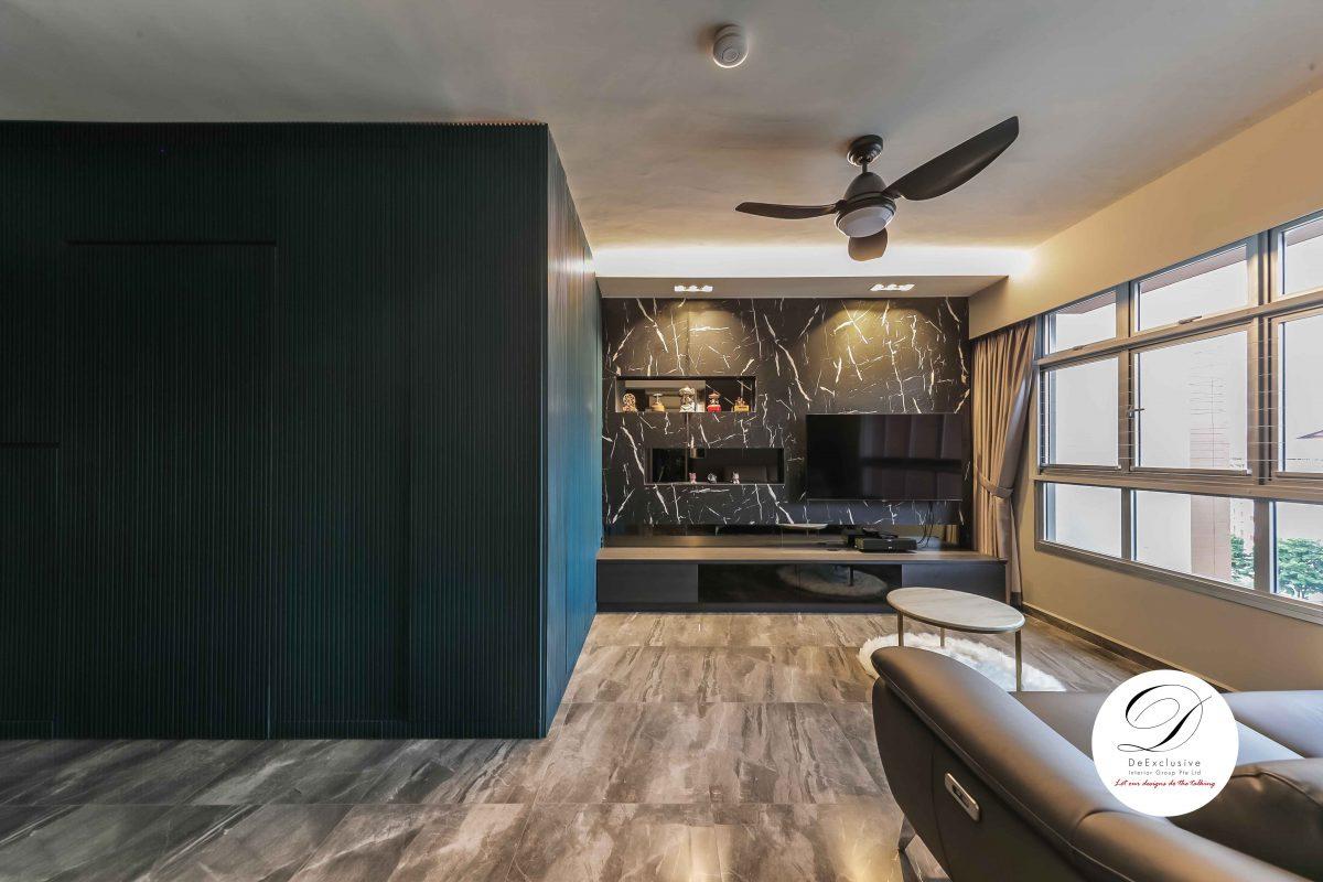 Sleek and contemporary home interior living room